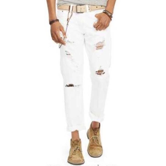 Denim /& Supply Ralph Lauren Men/'s Straight-Leg Coolidge White Jeans
